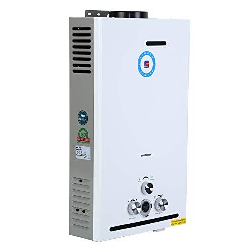 Samger 24KW 12L Calentadors de Agua Instantaneo Butano LPG Calentador de Gas sin Tanque Petróleo Licuado Quemador de Agua Caliente Hot Water Heater