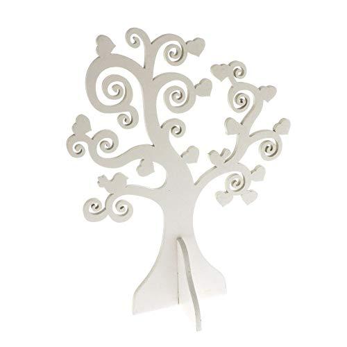 Albero della vita in legno decorativo 26 cm BIANCO