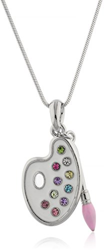 Product Image of the JOTW Artist Paint Palette & Paint Brush Pendant with a 16 Inch Snake Necklace...