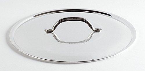 Pentole Agnelli PCMX02920 Coperchio con Ponticello, Alluminio Lucido, 20 cm