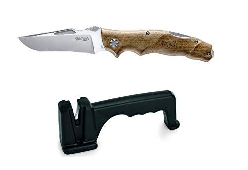 Walther Adventure Folder Wood Mes, extreem scherp en robuust survivalmes
