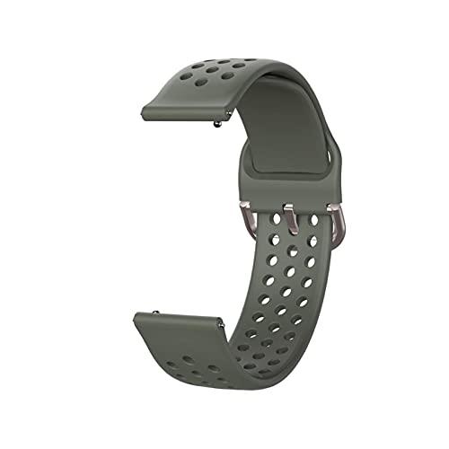 ZXC - Correa de silicona para Samsung Galaxy Watch 3 Active 2 Gear Sport Amazfit Bip Fit para Huawei GT 2 2E Pro y hombres y mujeres (color de la correa: gris, ancho de la correa: 22 mm)