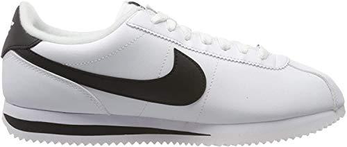 Nike Herren Men's Cortez Basic Leather Shoe Traillaufschuhe, White Grey Silver, 44 EU