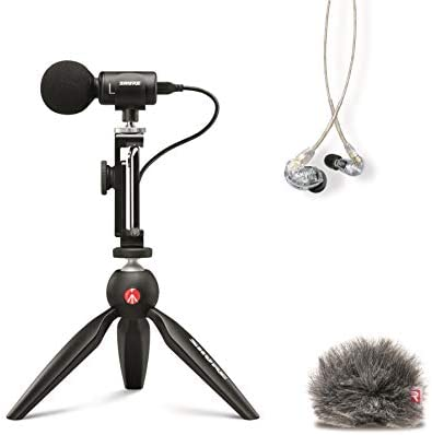 Shure Portable Videography Bundle with SE215 Earphones and MV88 Video Kit including Digital product image