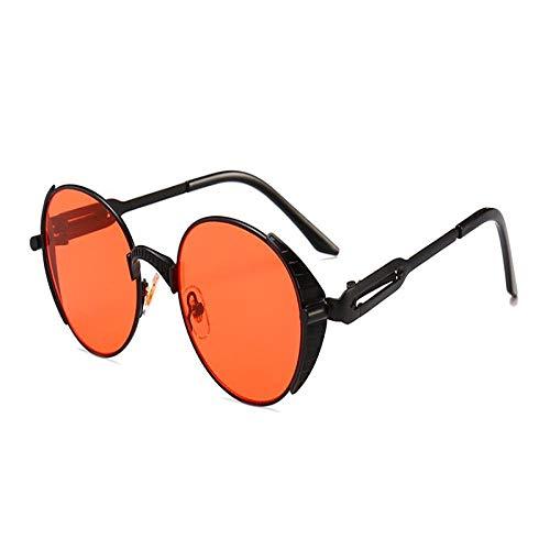 Mirror Lens Round Steampunk Sunglasses for Men and Women Vintage Retro Eyewear Glasses Goggles 4