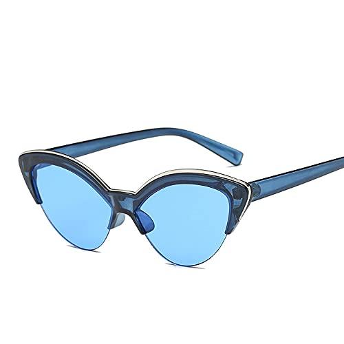 Único Gafas de Sol Sunglasses Gafas De Sol con Forma De Ojo De Gato Y Mariposa para Mujer, Gafas De Sol De Moda Azules D