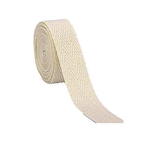 Algodón Natural cinta de espiga cinta 10 mm x 5 m: Amazon.es: Hogar