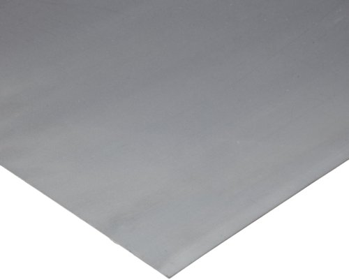 """304 Stainless Steel Sheet, #4 Brushed Finish, Annealed, ASTM A240/ASME SA240, 0.03"""" Thickness, 24"""" Width, 24"""" Length, 22 Gauge"""