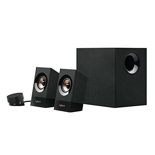 ogitech Z533 2.1 Lautsprecher-System mit Subwoofer, Kraftvoller Sound, 120 Watt...