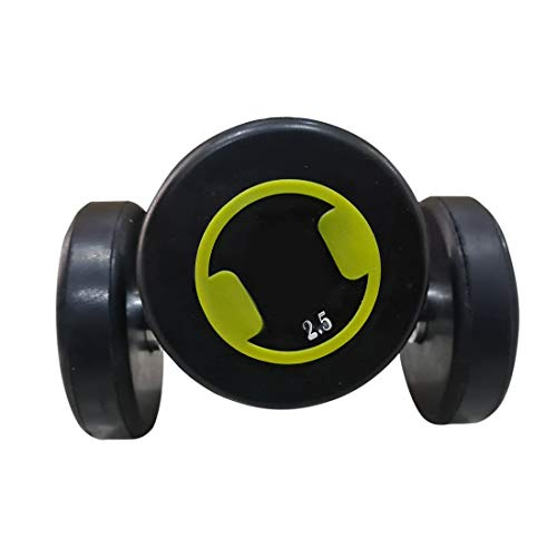 GOCART WITH G LOGO Rubber Coated Steel Grip Round Dumbbells...