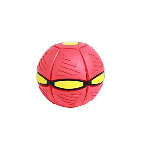 GHAMZ Bola Mágica del Platillo Volador Deformada de La Bola del Ovni, con 6 Juguetes del Disco Volador de La Bola Deformada Voladora de La Luz del LED, Regalo de Los Deportes Al Aire Libre,Rojo