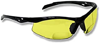 Bifocal Safety Glasses SB-9000 with Yellow Lenses, +2.00