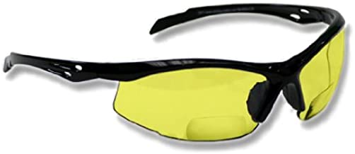Bifocal Safety Glasses SB-9000 with Yellow Lenses, +1.50
