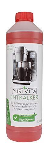 Purivita - Flüssiger Entkalker mit 750 ml - kompatibel mit allen Herstellern 1 Flasche