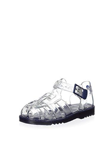 Sandalias de Agua en Goma Transparente con Hebilla Modelo Cholo, de Igor - Azul Marino, 28