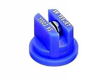 TeeJet XR11003VS Extended Range Spray Tip 0.18-0.37 GPM 30-60 psi Stainless Steel - Blue