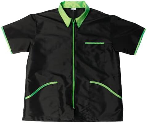 Barber Jacket for Men Vest Uniform (MEDIUM, BLACK)