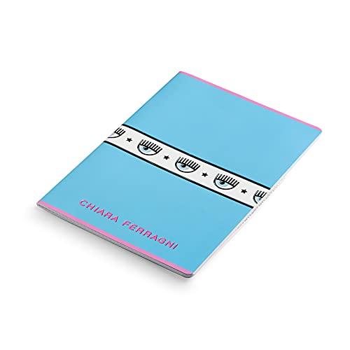 Maxi Quaderni Chiara Ferragni x Pigna, f.to A4, assortimento soggetti mix Azzurro/Rosa, Confezione 5 Quaderni