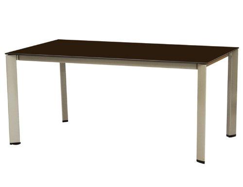 Kettler tafel 160x95 champagne/mokka onderstel Loft-Design