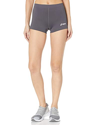 ASICS Women's Women's Low Cut Performance Shorts, Steel Grey, Small
