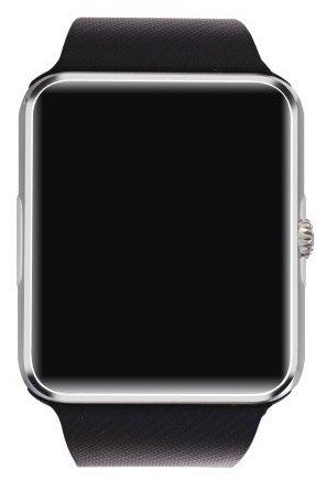 SmartWATCH Premium G4 Reloj inteligente de Bluetooth para Android Smartphones (incl. notificaciones de WhatsApp*) con ranura para tarjeta SIM Technikware en negro/plata