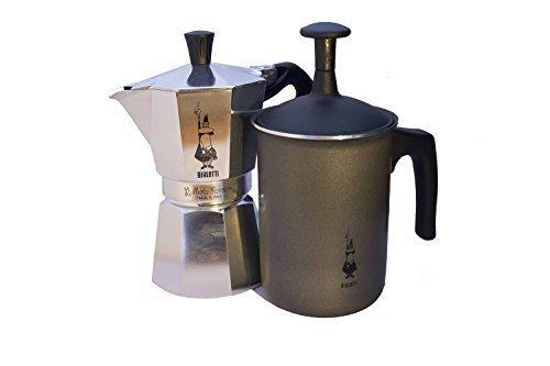 Bialetti Moka Espressokocher für 6 Tassen, Tuttocrema Aufschämer Combo Pack