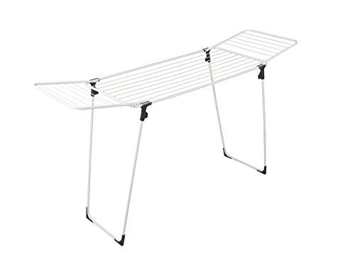 Rörets Wäscheständer Neo mit Flügeln, die in zusammengeklappter Stellung Nicht herausfallen können - L175xB52xH95 cm - schwedisches Design
