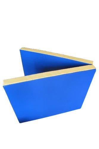 Niro Sportgeräte Turnmatte Weichbodenmatte Klappbar - Colchoneta de entrenamiento para gimnasia, color azul / amarillo, talla 200 x 80 x 8 cm