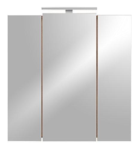 Posseik 5422 78 Armadietto con specchio, in finto legno di nocciolo