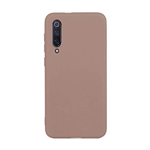 cuzz Custodia Xiaomi Mi 9 SE+{Film di Vetro temperato}Silicone TPU Cover Morbida Protettiva Custodia Ultra Sottile Leggero Cover-Brown