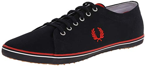 Fred Perry Kingston Twill, Zapatos de Cordones Oxford para Hombre, Azul (Navy), 40 EU