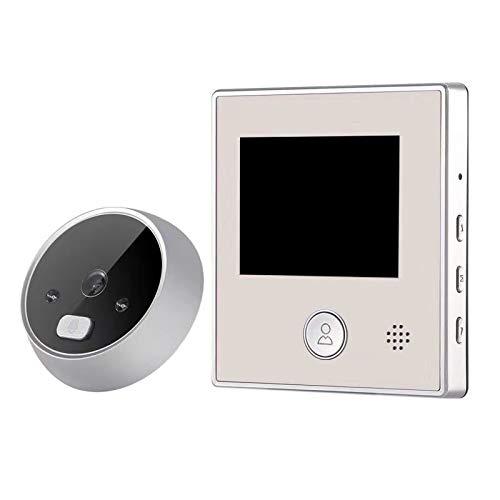 Wivarra Pantalla LCD de 2,8 Pulgadas Timbre Digital Visor de CáMara de Puerta de Mirilla ElectróNica de VisióN Nocturna de Ojo de Puerta Inteligente de 150 Grados