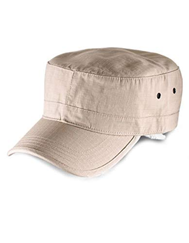 Atlantis Army Military Cap Ripstop Cotton - Khaki - OS