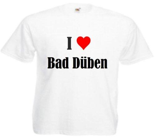 Bandenmarkt T-shirt I Love Bad Duben voor vrouwen en kinderen in de kleuren zwart en wit roze