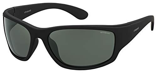 Polaroid PLD 7005/S RC YYV 63 Gafas de sol, Negro (Black Rubber/Green Pz), Hombre
