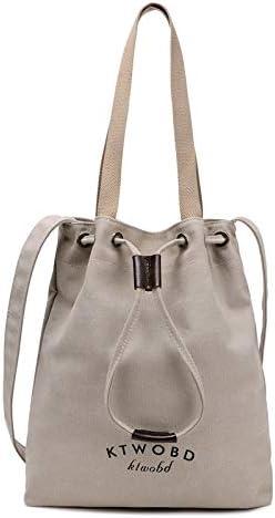 H/A 2020 New Shoulder Bag Handbag Casual Fashion Wild Literary Retro high-Capacity Portable Canvas Bags MENGB (Color : Rice White, Size : 35X28X7CM)