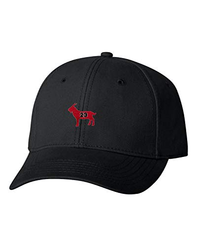 Adjustable Black Adult G.O.A.T. Jordan #23 Goat Greatest of All Time Embroidered Dad Hat Structured Cap