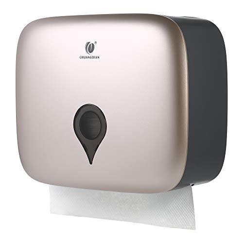Decdeal Dispensador de Toallitas de Papel, Higiénico a Prueba de Agua Montado en la Pared, Tipo C, para Hotel, Casa, Oficina