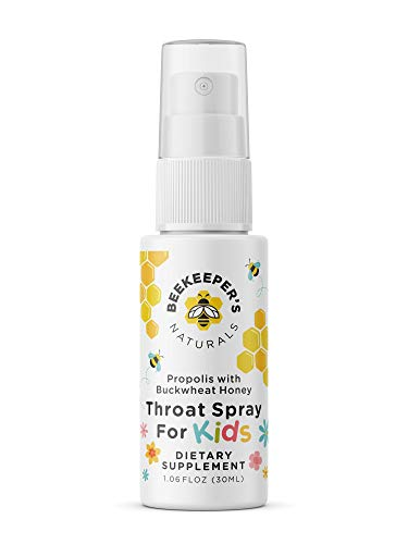 BEEKEEPERS NATURALS Propolis Throat Spray for Kids - 95% Bee Propolis Extract - Natural Immune Support & Sore Throat Relief- Has Antioxidants & Gluten-Free (1.06 oz) Pack of 1 (Kids)