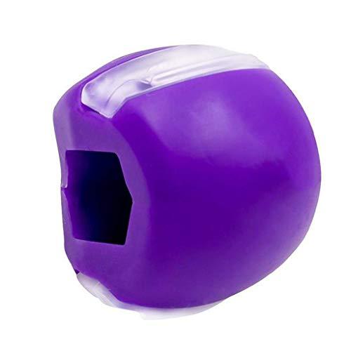 ZIRAN Ejercitador de mandíbula para Rostro y Cuello Define la línea de la mandíbula, Adelgaza y tonifica tu Rostro, mira Y Bola de Yoga de Silicona