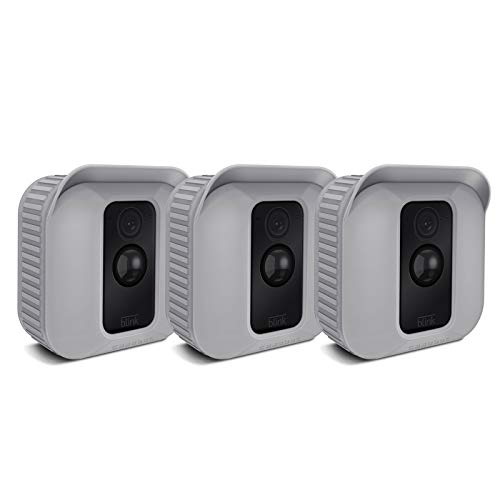 Fintie Silicone Skin for Blink XT2/XT Camera - [3 Pack] Premium Silicone UV Weather Resistant Protective and Camouflaged Case Cover for Blink XT2 & XT Home Security Indoor Outdoor Camera - Gray