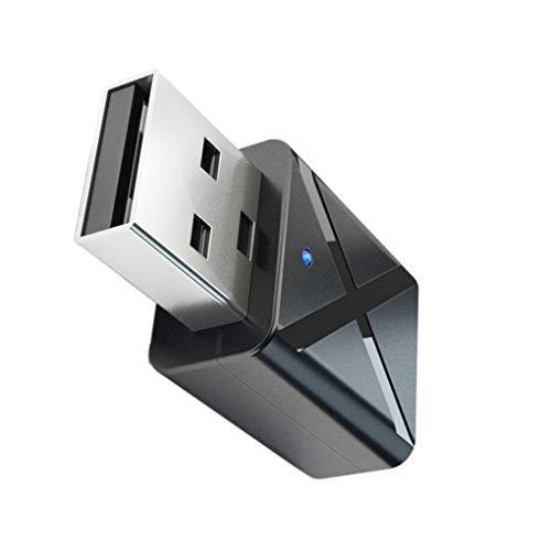 Morza Bluetooth USB 5.0 Transmisor Receptor de TV Altavoz del Auricular de 3.5mm Mini AUX estéreo Adaptador inalámbrico