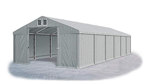 Das Company Tendone Deposito 6x12m Tendone Grigio Impermeabile 560g/m² Tenda da stoccaggio Gazebo Magazzino Tenda Capannone con telone in PVC Summer MSD