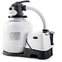 Intex 26679EG Krystal Clear 2150 GPH Pump & Saltwater Sand Filter Saltwater System (Grey)