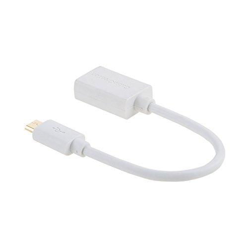 CableCreation USB OTG Kabel, [2-Stück] USB 2.0 auf Micro USB OTG Adapter, Kurz Adapter USB auf Micro USB für Samsung S7 S6 Edge S4 S3 Android oder andere Smartphone und Tablets, 15cm, Weiß