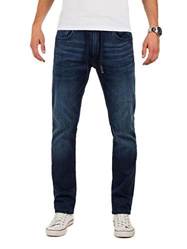 Yazubi Herren Sweathose in Jeansoptik Erik - Jogginghose Jeans Optik - Blaue Jeanshose - Slim-Fit Denim Jogger, Blau (Insignia Blue 194028), W31/L30