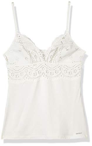 Skiny Damen Spaghettishirt Unterhemd, Ivory, (Herstellergröße: 38)