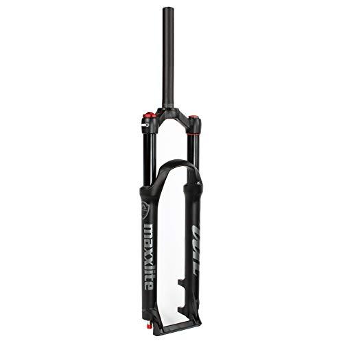 LvTu 26/27,5/29 Pulgadas Bicicleta Suspensión Aire Horquilla MTB, Derecho 1-1/8 Ultraligero Aleación...