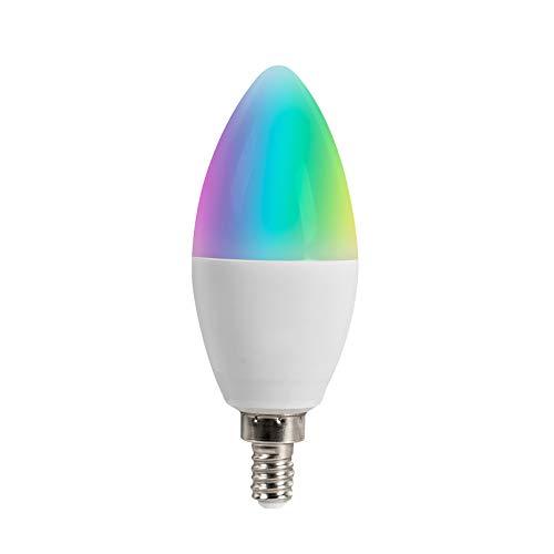 XIANNVV E14 Vela LED bombillas, bulbo inalámbrico 5W Colorido Vela Duradera Forma Inteligente Araña Decorativa, Tornillo Edison LED Bulbos
