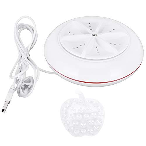 Regalo de Abril Lavadora, Rojo, Conveniente, Ligero, ultrasónico, Lavadora, Mini USB con interacción Inteligente para el Dormitorio del hogar